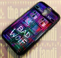 Bad Wolf Police Box For Samsung Galaxy Black Rubber Case Iphone 5c Cases, Iphone 5s, Police Box, Bad Wolf, Samsung Galaxy S4, Black Rubber, Galaxies, Ipod, Accessories