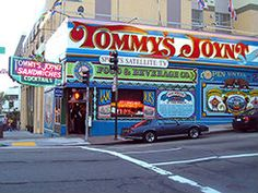 7/8/2014. The Original Tommy's Joynt. Very dry brisket served on sourdough roll with a pitcher of gooey barbecue sauce; macaroni salad with a decidedly peculiar, almost floral aftertaste. Drinks served separately by pleasant server.