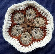 Crochet, crochet african flower, Crocheting African Flowers