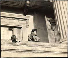 [Jane Ninas and Christine Fairchild on Balcony, Belle Grove Plantation House photo by Walker Evans. Abandoned Plantations, Louisiana Plantations, Louisiana Homes, White Castle Louisiana, Southern Plantation Homes, Plantation Houses, New Orleans Garden District, American Mansions, Abandoned Houses