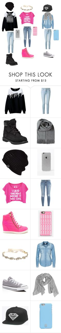 """the school style....."" by shadiamondwillis on Polyvore featuring beauty, Frame Denim, Timberland, UGG Australia, LA: Hearts, Casetify, Marchesa, Vero Moda, Converse and Tory Burch"