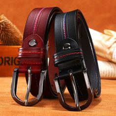 2017 New Fashion brand women smooth belt designer genuine leather Vintage Strap girls ladies' belts for jeans Best Leather Belt, Leather Belts, Fashion Brand, New Fashion, Belts For Women, Ladies Belts, Exhibition Booth Design, Belt Buckles, Wallet