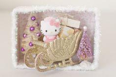 DIY Hello Kitty Christmas Diorama