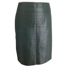 REED KRAKOFF GREEN LEATHER SKIRT. #reedkrakoff #cloth