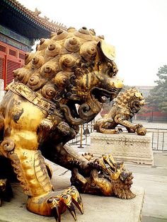 Guardian Lions - Forbidden City - Beijing