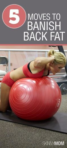 Workout Plans : 5 GREAT Moves to Banish Back Fat! Get summer ready with these exercises! - All Fitness Fitness Workouts, Fitness Motivation, Fitness Quotes, Lady Fitness, Fitness Diet, Health Fitness, Health Exercise, Exercise Videos, Exercise Ball Workouts