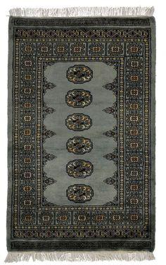 2.5x4 Grey Bokhara Oriental Rug