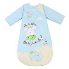 HAPPY CHERRY Autumn Baby Sleeping Bag Long Sleeves SleepSack Wearable Blanket - Cartoon Calf - Blue - Quilted Cotton - Suitable Height(35.43-55.11inch) - 3-6 Years - $103.23