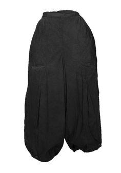 Barbara Speer Lagenlook weite Baumwollhose in schwarz große Größen bei www.modeolymp.lafeo.de