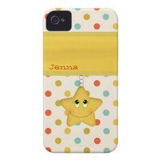 Be Happy Retro Polka Dot Custom iPhone 4 Covers  #iphonecase