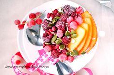Winter Chia Parfait  http://www.momsfitnessheaven.com/winter-chia-yogurt-parfait/ #food #recipe #breakfast #slim #fruits #raspberries #yogurt #chia #muscles #protein #healthy #nutritious #fit #fitness #lowfat #lowcarb #lowsugar