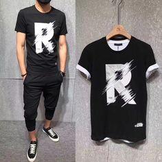 Weird Fashion, Hip Hop Fashion, Mens Fashion, Printed Shirts, Tee Shirts, Running Pants, Tee Shirt Designs, Casual, Street Wear