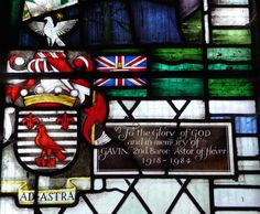 St Peter's Church, Hever, Kent. The Astor Memorial Window. In memory of Gavin, 2nd Baron Astor of Hever 1918-1984.