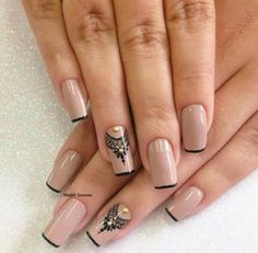 Discovered by Find images and videos about nails, nail art and nailart on We Heart It - the app to get lost in what you love. Fabulous Nails, Perfect Nails, Gorgeous Nails, Pretty Nails, Hair And Nails, My Nails, Nude Nails, Acrylic Nails, Nail Arts