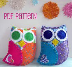 PDF Owl Softie Pattern Felt