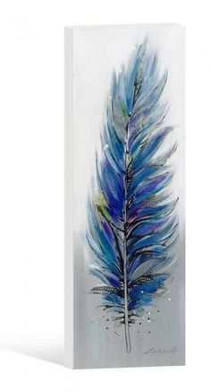 Oil Painting Blue Feather - Seaweed and Sand