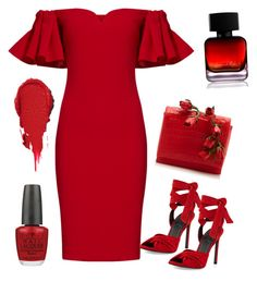 """""""Really Red..."""" by joseph-alicia on Polyvore featuring Badgley Mischka, Kendall + Kylie, Nancy Gonzalez, OPI and The Collection by Phuong Dang"""