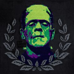 Frankenstein cross stitch... godly