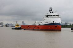 CBO Oceana on her way to sea trial.  First ship delivered by the Itajai, Brazil shipyard