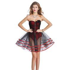 Evening Bustier Back Support Corset Dress