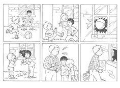 Użyj STRZAŁEK na KLAWIATURZE do przełączania zdjeć Teach English To Kids, Teaching English, Story Sequencing Pictures, Reading Comprehension Worksheets, Class Activities, Teaching Materials, Creative Writing, Comic Strips, Comics