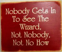 Nobody gets in to see the wizard!--this is how we feel when we try to make an appointment with our doctor!