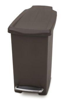 simplehuman Slim Step Trash Can, Mocha Plastic, 10L / 2.6 Gal simplehuman http://www.amazon.com/dp/B003VWJ3YI/ref=cm_sw_r_pi_dp_.w8rvb08HMBNA