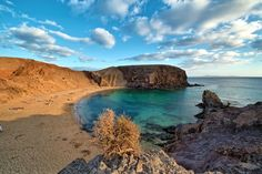 Seen here is the breathtaking Playa de Papagayo (Papagayo Beach) on Lanzarote, one of the Canary Islands in Spain.