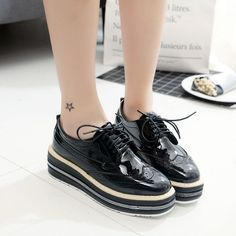 Cheap shoe height, Buy Quality shoe height increase directly from China shoes style Suppliers: New styles wedges platform single shoes height Increasing Lace Up Stars women shoes