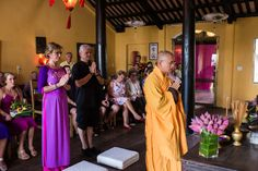 Hoi An Ancient Town has many hidden treasures. A Buddhist blessing in an Ancient Town restaurant. #HoiAnEventsWeddings #BuddhistBlessing