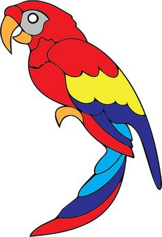 Our Sister Site - Parrot Easy Drawings, Art Drawings For Kids, Glass Painting, Fabric Painting, Bird Coloring Pages, Bird Drawings, Stained Glass Birds, Parrot Craft, Mosaic Patterns