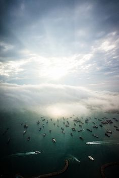 harbour sunset by Zanthia, via Flickr