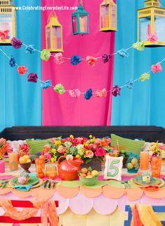 fiesta parties | Fiesta Party Ideas, Cinco de Mayo party ideas, Bright colored party ...