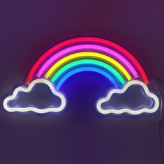 Rainbow Neon Light for Wall Art Decor. ideas for Home Decor Light. Wallpaper Iphone Neon, Neon Wallpaper, Rainbow Wallpaper, Rainbow Light, Neon Rainbow, Rainbow Things, Rainbow Theme, Neon Light Signs, Led Neon Signs