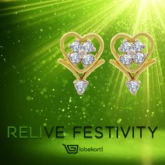 Wish to relive the festive mood? If Diwali hangover is still on, indulge in doing something exciting. Try out some jewellery shopping.  Click http://bit.ly/2ffh0C3  to buy Globekart's Enchanting Fluris Diamond Earring. Pep up your mood. Want some other design?  Go to  http://bit.ly/2f08BmX & explore exquisite gold and jewellery collection of Globekart.  Avail Rs 1000 off on jewellery purchase. Hurry up.  #RelliveFestivity #Diwalihangover #JewelleryShopping #Globekart #Earring #Gold #Diamond…