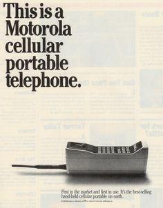 weirdvintage:  Motorola Portable Cellular Telephone, 1985