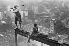 pinterest.com/fra411 #skycrapper - building of the RKO tower 1932