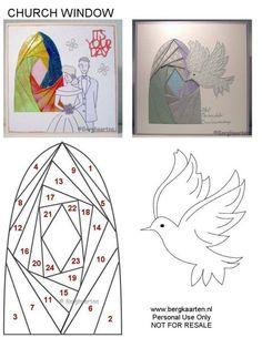 Irisvouwen: Condolência Iris Folding Templates, Iris Paper Folding, Iris Folding Pattern, Fabric Cards, Paper Cards, Folded Cards, Dishcloth Knitting Patterns, Knit Dishcloth, Crochet Patterns
