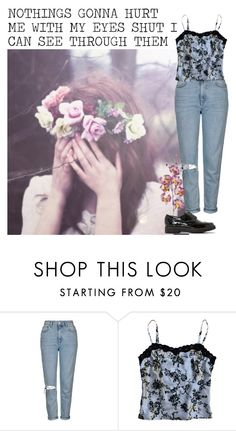 """""""Eyes Shut- Years and Years"""" by kimabalee ❤ liked on Polyvore featuring Grace, Topshop, My Michelle and Dune"""