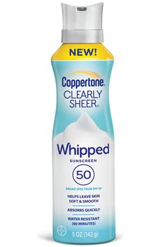Coppertone Clearly Sheer Whipped Sunscreen SPF 50  - HarpersBAZAAR.com