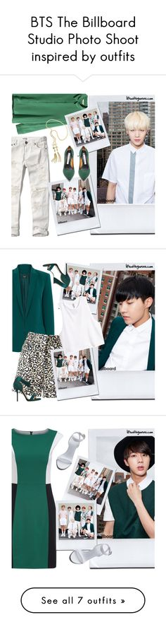 """BTS The Billboard Studio Photo Shoot inspired by outfits"" by yooane ❤ liked on Polyvore featuring H&M, Abercrombie & Fitch, bts, BangtanBoys, Suga, bangtansonyeondan, minyoongi, Oasis, STELLA McCARTNEY and Paul Andrew"