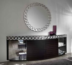 Casanova Round Wall Mirror, Contemporary Bedroom Design at Cassoni.com