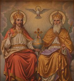 The Solemnity of The Most Holy Trinity is celebrated a week after Pentecost Sunday, in honor of the most fundamental Christian belief in the Holy Trinity. Catholic Doctrine, Catholic Mass, Catholic Prayers, Roman Catholic, Trinity Catholic, Christianity, Catholic Answers, Catholic Churches, Catholic Saints