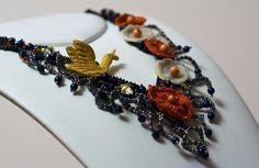 """collana creata appositamente per il concorso """"Blooming beautiful"""". Si tratta di un pezzo unico"""