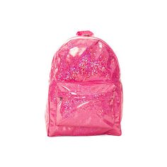 O-Mighty The Exclusive Hologram Backpack ($58) found on Polyvore featuring bags, backpacks, pink, accessories, backpacks bags, pattern backpack, zip bags, zip pouch and hologram bag