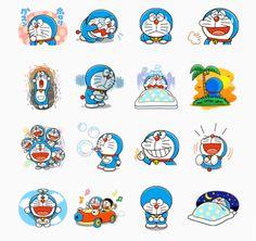 Doraemon Doraemon Wallpapers, Cute Cartoon Characters, Free Printable Stickers, Picsart, Unique Art, Small Tattoos, Manga Anime, Hello Kitty, Tattoo Ideas