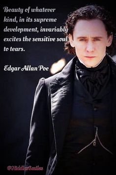 He does remind me of Poe in that costume. Makes me think of the John Cusack film The Raven