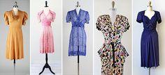 「1940s dress」の画像検索結果