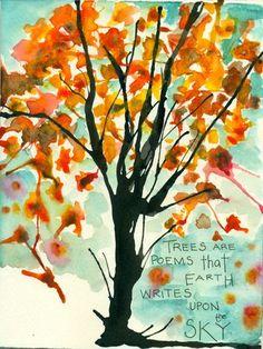 los arboles #trees #art #online workshop