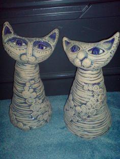 Kocour a kočka v modrém.